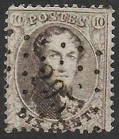 N° 14A Oblitération LP 295 De Philippeville (Nic 34) - 1863-1864 Medallones (13/16)
