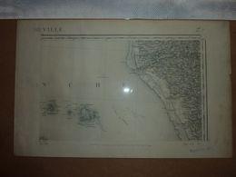 Carte Topographique N° 27 Barneville Type 1889 - Cartes Topographiques
