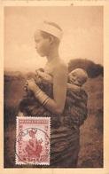 Belgique .CARTE MAXIMUM. N°207741. 1933. Cachet KIGAL. Ruanda. Femme Muhutu Et Son Enfant - Maximum Cards