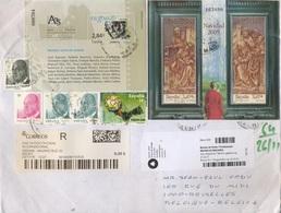 Deux Lettres Recommandées Vers Belgique - 2011-... Lettres