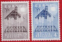 EUROPA CEPT OBC N° 1025-1026 (Mi 1070-1071) 1957 POSTFRIS MNH ** BELGIE BELGIEN / BELGIUM - Unused Stamps