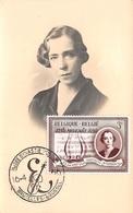 Belgique .CARTE MAXIMUM. N°207755. 1956. Cachet Bruxelles . Reine Elisabeth - Maximum Cards