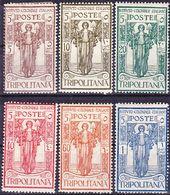 Tripolitania 1926 Pro Istituto Coloniale Italiano Serie Compl. Mi 45-50, Sassone 33-38 MH * - Tripolitania