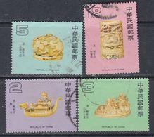 Taiwan N° 1566 / 69 O  Ivoires Sculptés, Les 4 Valeurs Oblitérées, TB - 1945-... République De Chine