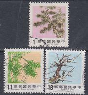 """Taiwan N° 1596 / 98 O   """"Les 3 Amis Du Temps D'hiver"""" ( II ), Les 3 Valeurs Oblitérées, TB - 1945-... République De Chine"""