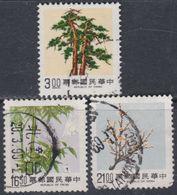 """Taiwan N° 1789 / 91 O   """"Les 3 Amis Du Temps D'hiver"""" ( IV ), Les 3 Valeurs Oblitérées, TB - 1945-... République De Chine"""