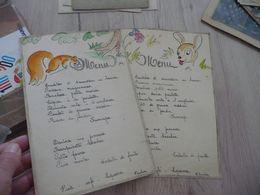 X 2 Menus Dessins Originaux 1948 écureuil Faon - Menus