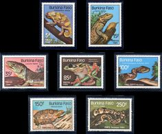 Burkina Faso 0662/65 Et A 302/05 Grenouille, Serpent, Tortue, Cameleon, Iguane, Varan, Python, Vipere - Non Classés
