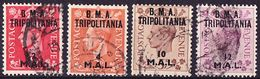Tripolitania Brit. Occupation 1948 Mi 2, 4, 7, 8, Sassone 2, 4, 7, 8 Used O - Tripolitaine