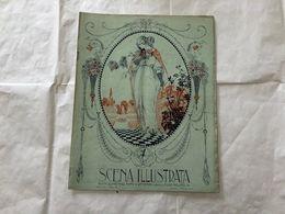 SCENA ILLUSTRATA  EZIO ANICHINI 1 FEBBRAIO 1916 WOMAN LIBERTY DECò RETRò - Books, Magazines, Comics