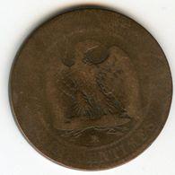 France 10 Centimes 1855 MA Chien GAD 248 KM 771.6 - France