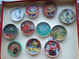 11 Spiegeltjes Goede Staat Behendigheidspellen  Geduld Spelen  1950' Kat Muis Puzzles Tafelspelletjes Voor Kinderfeest - Toy Memorabilia