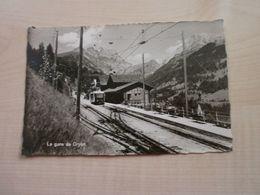 Carte Ancienne  GRYON La Gare - Estaciones Con Trenes