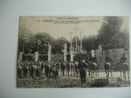 Cpa 22 Militaire Cheval Ceremonie Benediction Calvaire Protestation - Tréguier