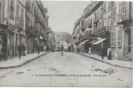 Luxeuil Les Bains - Rue Carnot - Collection La Haute Saône Pittoresque (animée) - Luxeuil Les Bains