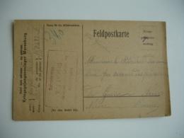 Merseburg Camp Prosonniers Guerre 14.18 Carte Censure Pour Prefecture Nievre - Guerre De 1914-18