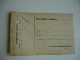 Eichstatt Camp De Prisonniers Carte Franchise Censure Allemande Pour  Prefecture Nievre - Guerre De 1914-18