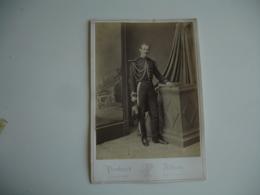 Militaire  Bicorne Cliche Photo Portrait Album - Anonymous Persons