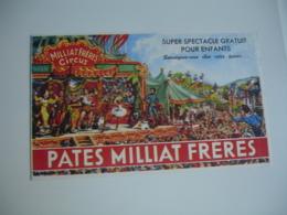 Cirque Circus Pate Milat Freres  Buvard - Food