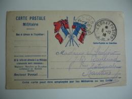 4 Drapeaux Central Carte Franchise Tresor Et Postes 5 Franchise Postale Guerre 14.18 - Postmark Collection (Covers)