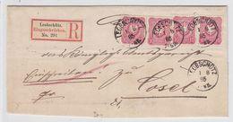 Deutsches Reich R-Brief Mit MEF Von Leobschütz Nach Cosel - Duitsland
