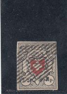 Suisse - Année 1850 - N°Zumstein 13II - Croix Non Encadrée - Légende Orts-Post - Certificat - 1843-1852 Timbres Cantonaux Et  Fédéraux