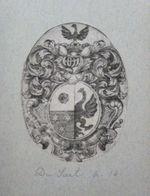 Ex-libris Héraldique XVIIIème - BELGIQUE - CAZIER DU BREUCQ (Tournaisis) - Ex Libris