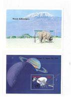 Tanzania 1992 Anniversaries & Events Elephant Zeppelin Satellite 4 S/S MNH 2 Scans - Tanzania (1964-...)