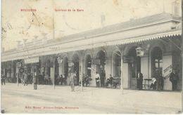 MOUSCRON : Intérieur De La Gare - Cachet De La Poste 1911 - Mouscron - Moeskroen