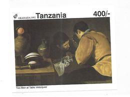Tanzania 1992 Drawings By Diego Da Silva Velazquez Granada 92 S/S MNH - Tanzania (1964-...)