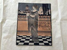 SCENA ILLUSTRATA  EZIO ANICHINI WOMAN LIBERTY GRECIA ATHENE  1 AGOSTO 1916. - Books, Magazines, Comics