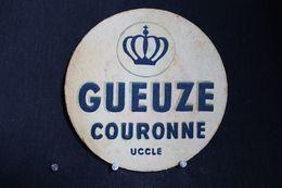 *Sous Bock / Bierviltjes /Coasters : Brasserie / Brouwerij - Brasserie, Gueuze  Couronne Uccle * - Beer Mats