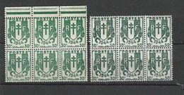 Bloc De Chaines Brisées N° 671 Avec Couleur Différente - 1945-47 Cérès De Mazelin