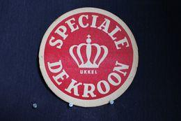 *Sous Bock / Bierviltjes /Coasters : Brasserie / Brouwerij - Brasserie, Speciale De Kroon Ukkel-Spéciale Couronne * - Bierviltjes