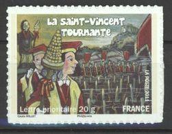 N° 583A Y.T. Autoadhésif France Neuf ** La Saint-Vincent Tournante En Bourgogne (confrérie De Vignerons) - Luchtpost