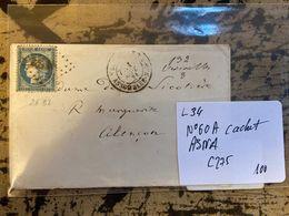 N°60  SS/L  CACHET ASNA   L 34 - 1849-1850 Ceres