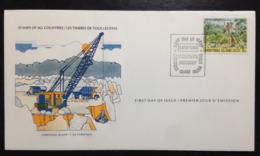Christmas Island, Uncirculated FDC « Industries », « Phosphate », 1980 - Christmas Island