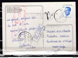 Postkaart Van Nieuwpoort E1E Naar Getaksseerd LIege 1 - Belgium