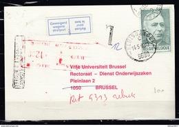 Kaart Van Kluisbergen Naar Brussel Met Taksstempel - Belgium