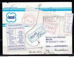 Postkaart Van Antwerpen 1 Naar Nivelles Terug Aan Afzender Met Taksstempel - Belgium