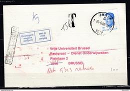 Postkaart Van Zwalm 1 Naar Brussel Met Taksstempel - Belgium