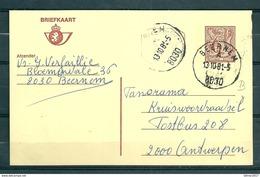 Postkaart Van Beernem Naar Antwerpen - Belgium