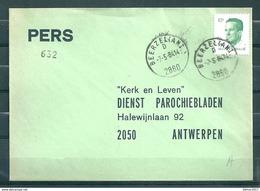 Pers Brief Van Beerzel (Antw.) Naar Antwerpen - Belgium