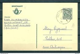 Postkaart Van Belsele A1A Naar Antwerpen - Belgium