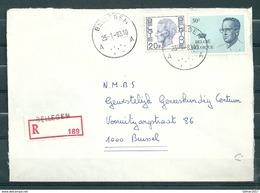 Aangetekende Brief Van Bellegem Naar Brussel - Belgium