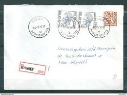 Aangetekende Brief Van Beringen C Naar Hasselt - Belgium