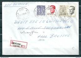 Aangetekende Brief Van Berchem (Antw.) 5 Naar Brussel - Belgium