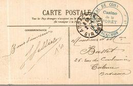 Cachet Hopital De Convalescents Casino De La Foret Arcachon 1915 Cp Arcachon - Marcophilie (Lettres)