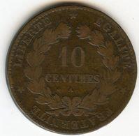 France 10 Centimes 1873 A GAD 265a KM 815.1 - France