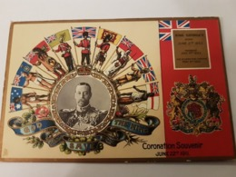 KING GEORGE V CORONATION SOUVENIR JUNE 22TH 1911  RAPHAEL TUCK CARD CORONATION FAMILLE ROYALE - Angleterre